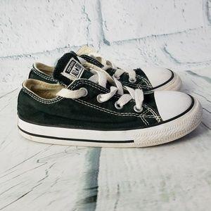 Kid's Black Canvas Converse